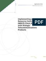9591 Implment MRCP Client An