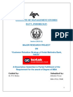 Abhishek Tiwari Major Research Project Kotak Mahindra Bank