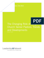Changing Role for Lead Pastor