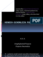 Henoch-Schonlein Purpura Discussion