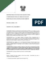 PORTARIA  INQUERITO CIVIL  DESCARTE DE ENTULHO CONSERTO CALÇADÃO DE PONTA NEGRA