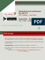 Observatoire de la performance  des PME-ETI Avril-16ème éd