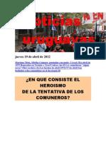 Noticias Uruguayas Jueves 19 de Abril de 2012