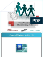 HRM - Section F - Group 3 - Trade Unions in Manufacturing