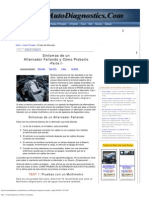 Parte 1 -Cómo Diagnosticar y Probar un Alternador.