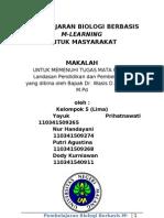 Makalah Pembelajaran Biologi Berbasis M-Learning Untuk Masyarakatn FIX