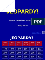 Jeopardy Literary Terms
