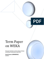 Term Paper on WEKA