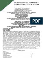 ACOMPAÑAMIENTO PEDAGÓGICO DEL SUPERVISOR Y DESEMPEÑO DOCENTE