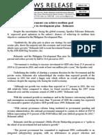 april19.2012 Government can achieve medium goal  under its development plan - Belmonte