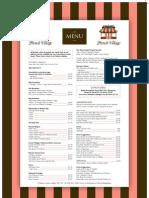 Botanic Cafe Menu 2 Pages
