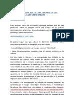 LA CONSTRUCCIÓN SOCIAL DEL CUERPO EN LAS SOCIEDADES CONTEMPORÁNEAS