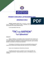 Bases Del Concuso ARGENJUS