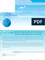Enterprise Mobility Strategy for a Fortune 500 CPG Firm