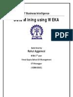 WEKA Assignment Rahul Aggarwal 10BM60065