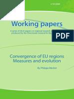 Convergence of EU regions. Measures and evolution (Eng)/ La convergencia de las regiones de la UE (Ing)/ EBko eskualdeen konbergentzia (Ing)