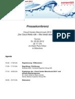 Experton Cloud Vendor Benchmark 2012 Einladung Pressekonferenz