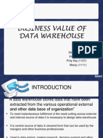 Business Value of Data Warehouse