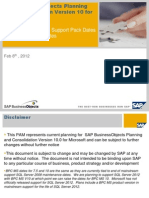 SAP BPC 10 MS Product Availability Matrix