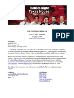 Texas House 12 Debate Press Release
