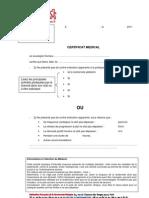 Certificat Medical Version 2011