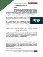 PROMOGRAMACIÓN EN PHP