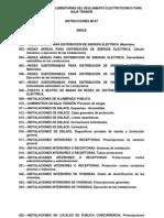 Instrucciones Reglamento Electrotécnico Baja Tensión 1973
