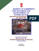 Req Equip Material Devlopment Power Sector