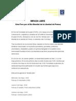 """""""MIRADA LIBRE"""", Cine Foro por el Día Mundial de la Libertad de Prensa"""
