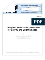 2005.06 Design of Shear Tab Connections for Gravity and Seismic Loads