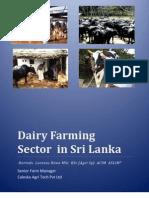 Dairy Farming Sector in Sri Lanka