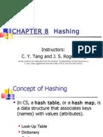 Chapter 8- Hashing