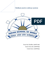 Planning of Kolkata Metro Railways
