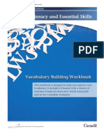 Vocabulary Building Workbook