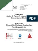 Projeto Seminário Direito UFMG 120 anos