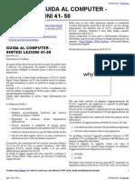 GUIDA AL COMPUTER – SINTESI LEZIONI 41-50