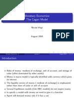 Monetary Economics (the Cagan Model) Nicola Viegi
