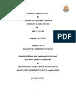 Vendor Project Report 2003