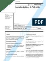 NBR 5680 PB 277 - Dimensoes de Tubos de PVC Rigido