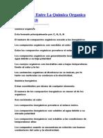 Diferencias Entre La Quimica Organica E Inorganic A