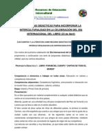 Propuesta Didactica Dia Del Libro Desde La Intercultural Id