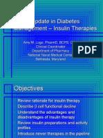 Update 2007.Insulin Therapies