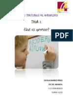 Glosario Trastornos Del Aprendizaje Tema 2