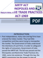 MRTP ACT- Monopolies and Restrictive Trade Practices ACT-1969