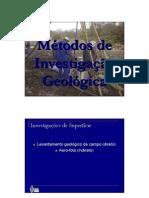 Métodos de investigação geologica