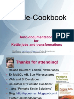 Kettle Cookbook Pentaho Community Gathering 2010