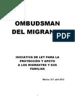 INICIATIVA DE LEY PARA LA PROTECCIÓN Y APOYO A LOS MIGRANTES (OMBUDSMAN DEL MIGRANTE)