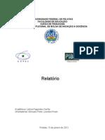 Relatório Leticia