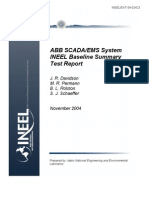 Abb Scada Ems System Ineel Baseline Summary Test Report
