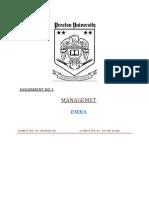 Assignment 1 Management